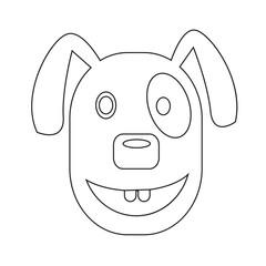 Dog Face emotion Icon Illustration sign design