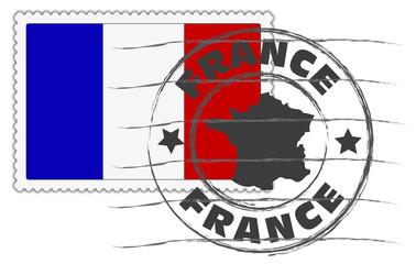 France timbre oblitéré