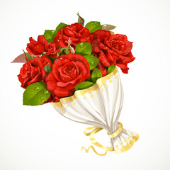 Bouquet of red roses Valentines day gift