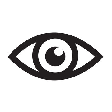 Eye icon illustration sign design style