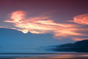 Landscape sky natural background blur.