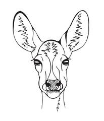 Stylized deer head