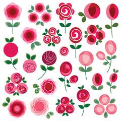 mod rose clipart