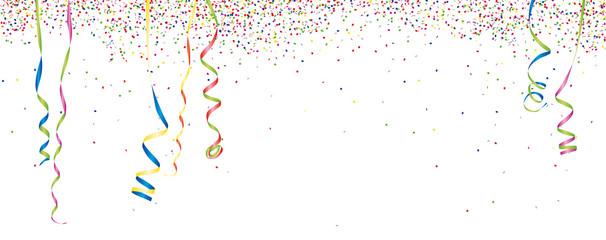 Konfetti & Luftschlangen Hintergrund