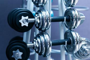 equipment in modern exercise room