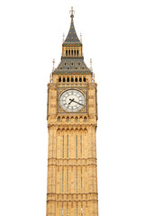 Big ben isolated on white, clipping path included