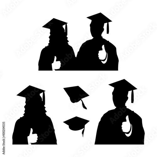 graduation jumping silhouette wwwpixsharkcom images