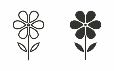 Flower - vector icon.