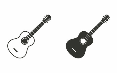 Guitar - vector icon.