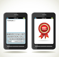 Smart phone with rosette best choice and with on-screen keyboard