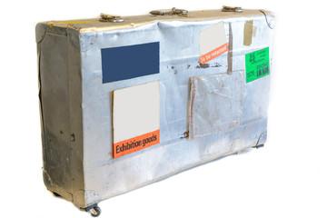 Old metal suitcase