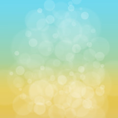 Summer abstract blue yellow background.