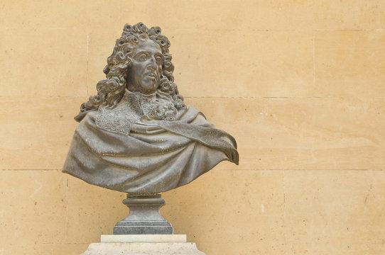 Louis XIV statue in Paris, France
