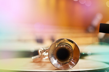 wind instrument. Trumpet. Concert Hall. Wind Instruments