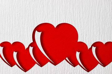 heart is cut out on paper