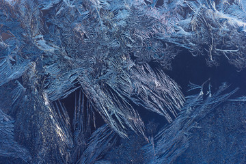 Hoarfrost on window