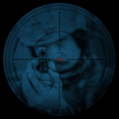 Sniper scope. Night vision.