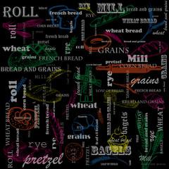 Меню Для ресторана и кафе. Хлебобулочные изделия. Еда.