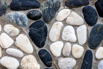 Mediterranean style stone wall
