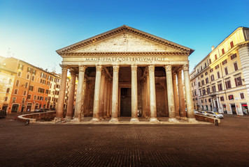 Poster de jardin Rome Pantheon in Rome, Italy