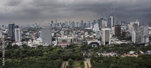 Fototapete Jakarta city panorama