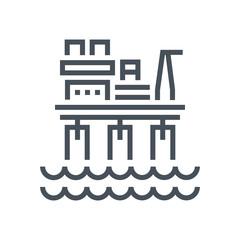 Offshore platform plant icon