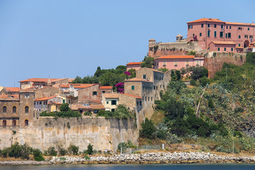 Portoferraio from the sea, Elba island, Tuscany, Italy