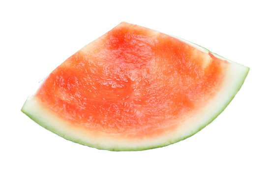 watermelon rind isolated on white background