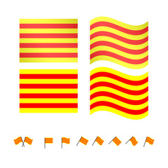 Catalonia Flags EPS10