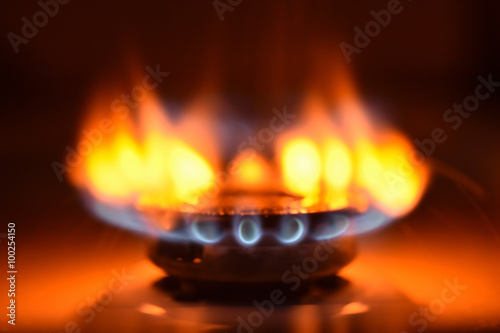 Red Gas Flame Of A Burning Stove Stock Photo And Royalty Free Images On Pic