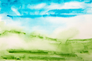 blue and green texture water color