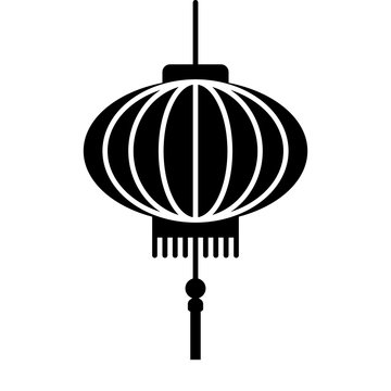 Chinese lantern festival flat icon for apps and websites