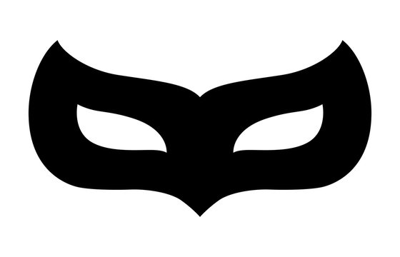 Carnival disguise mask flat icon for apps and website