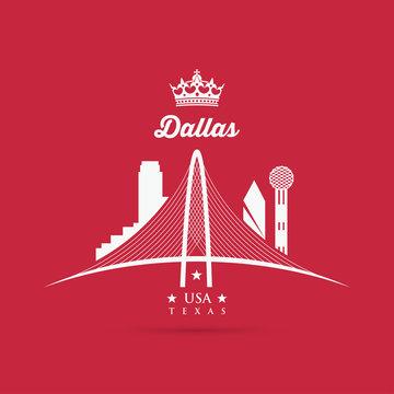 Margaret Hunt Hill Bridge sign - Dallas, Texas