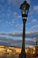 Straßenlaterne Karlsbrücke Prag