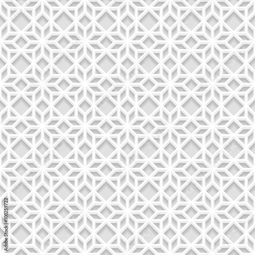 Seamless white 3d pattern east ornament indian ornament for Modern 3d wallpaper texture