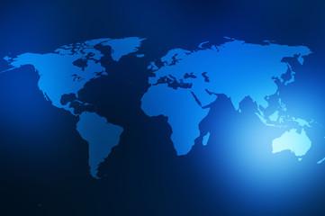 Obraz Mapa świata w stylu technologicznym - fototapety do salonu