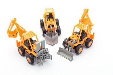 3 Orange tractor toy