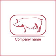 Pig logo.Vector