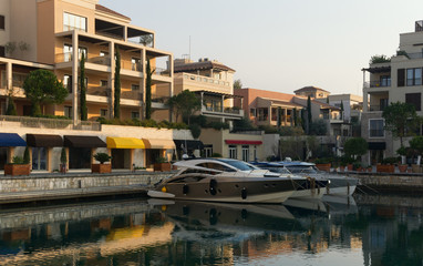 View of Porto Montenegro village. Tivat city, Montenegro