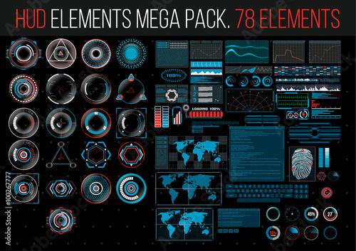 Sci Fi Reticle : Quot hud elements mega pack sci fi futuristic