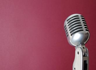Retro Mikrofon aus den 50er Jahren