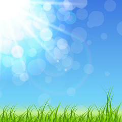 Spring Green Background. Vector Illustration