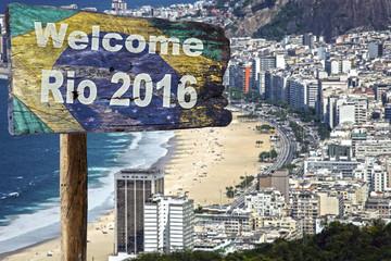 Welcome sign to Rio de Janeiro.