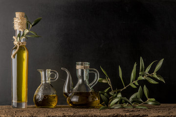 Extra virgin olive oil  background