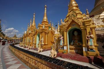 Die Shwedagon Pagode von Rangun in Myanmar