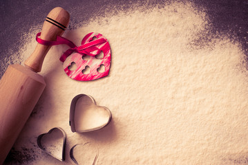 Background for Valentine's Day baking