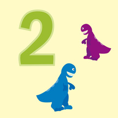 Number two. Two dinosaurs (t-Rex ).