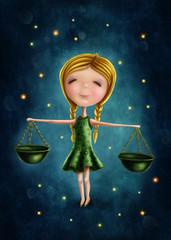 Libra astrological sign girl