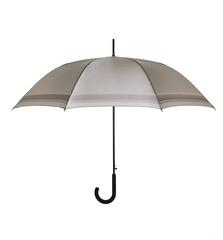 Brown umbrella on white
